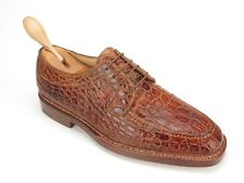 New Silvano Lattanzi Brioni L. Brown Crocodile Bentivegna Handmade Oxfords 9 US