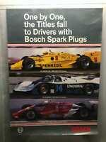 "1985 Vintage Bush Spark Plugs car poster 23.5""x 33.5"" Al Unser, Sr Al Holbert"