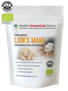 Organic Lions Mane Mushroom Powder (Smart Mushroom, Hericium Erinaceus)