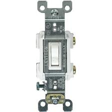 10 Pk Leviton Residential Grade 15A Toggle Single Pole Switch 205-Rs115-Wcp