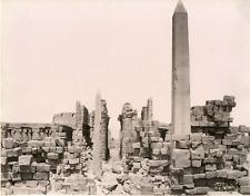 Sebah, Egypte, Karnak, Obélisque  Vintage albumen print. Pascal Sébah, né en 182