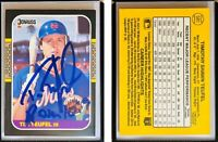 Tim Teufel Signed 1987 Donruss #581 Card New York Mets Auto Autograph