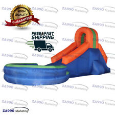 16x8.2ft Inflatable Slide & Pool For Home Use With Air Blower