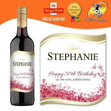 PERSONALISED RED WINE BOTTLE LABEL BIRTHDAY ANY OCCASION GIFT