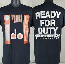 I WANNA DO YA T Shirt XL Vtg 80s/90s Ready For Duty Promotions NY Punk Rock NOS