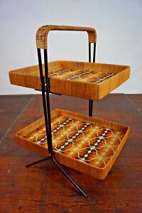 60er Serving BAR Table Tray Tea Trolley BAR Vintage Side Table 70er
