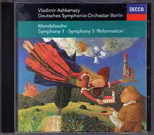 Vladimir ASHKENAZY: MENDELSSOHN Symphony No.1 & 5 Reformation CD 1995 DSO Berlin