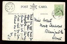 Islas del Canal Jersey 1906 Muy Fino samares recibir Matasellos en 1906 PPC