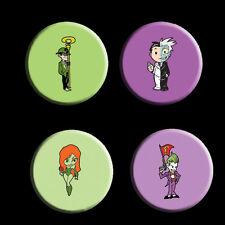 Batman Villains Badge Set - Riddler, Joker, Poison Ivy and Two Face