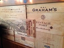 23 Assorted Branded Wine Panels. Side /End Tops / Wood Diff. Sizes. Nice Lot!
