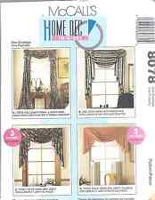 8078 UNCUT McCalls SEWING Pattern Home Decor Window Treatments Vintage Valance