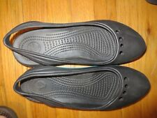 Women's Croc's Black Sling Back Rubber Sandals Size W/11 NWOB