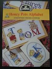 HONEY POTS ALPHABET Counted Cross Stitch Patterns by DMC