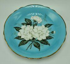 Vintage Paragon Bone China Tea Saucer ONLY Gardenia Gold Trim Blue