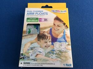 Swim Arm Floats with dual chambers for additional safety, one size, 30-55 lbs