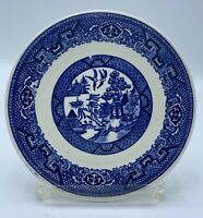 """Homer Laughlin Blue Stamp F48N6 BLUE WILLOW 6 1/4"""" Side / Bread Plates"""