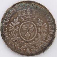 LOUIS XV ECU AU BRANCHES D'OLIVIER 1726 A