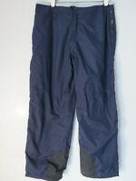 Lined PRO SPIRIT NAVY BLUE NYLON TRACK PANTS XL black cuffs zip button sweat