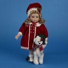 """Holly-Navidad Muñeca 14"""" Muñeca De Porcelana"""