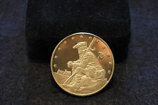 1976 Pennsylvania 24K GOLD Electroplate/STERLING SILVER Medal Great Condition!