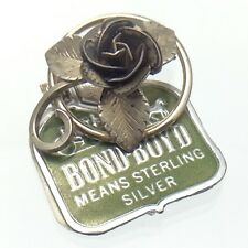 Tag Brooch Marked 2g Grams E325 Vintage Ladies Sterling Bond Boyd Original
