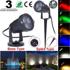 IP65 9W LED Outdoor Spot Flood Light Garden Yard Landscape Path Lamp+Base/Pin