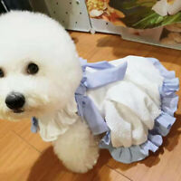 Lace Female Bow Dog Dress Clothing For Small Dogs Pet Teddy Party Cat Clothes