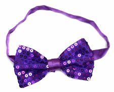 f3cc90d697e5 Sequin Satin Shiny Bow Tie Dickie Show Sparkly Fancy Dress Magic Mens Boys