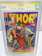THOR #127 CGC 6.0 SS Signed by STAN The Man LEE