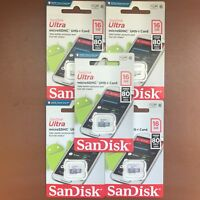NEW Sandisk 16GB Micro SD ULTRA SDHC Memory Card 80MB/s UHS-I Class 10
