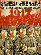 Stampa PROPAGANDA DI GUERRA SECONDA GUERRA MONDIALE sovietico URSS ARMATA ROSSA conquistare 1917 Rivoluzione nofl1002
