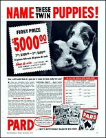 1939 Twin puppies Pard dog food name contest vintage photo Print Ad adL70