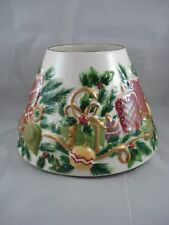 Yankee Candle Large Medium Jar Shade Topper Christmas Candlelight Holly Pretty