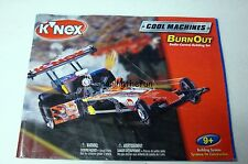 KNEX INSTRUCTION MANUAL ONLY #15129 Cool Machines Burn Out Book / Instructions