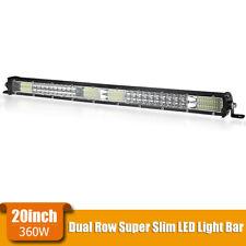 20inch 360W Slim LED Light Bar Dual Row Spot Flood Combo Work Lamp Truck SUV ATV