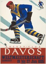 Vintage 1931 Ice Hockey Tournament Poster  A3//A2 Print