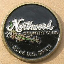 """US OPEN 1952 PAINTED & EMBOSSED 1"""" COIN GOLF BALL MARKER NORTHWOOD COUNTRY CLUB"""