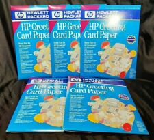 5 HP Hewlett Packard Greeting Paper w. Envelopes Quarter Fold 20 Pack Sealed