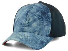 Kangol Distressed Blue Stretch Fit Baseball Style Cap Hat L/XL