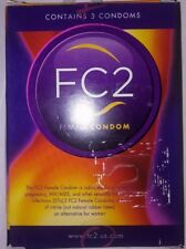 NEW FC2 Female Condom  3 pack NEW Sealed package EXP. 2020