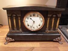 Antique American WM.L .Gilbert Chiming Mantel Clock for Repair or spares