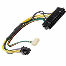 AYA 12-Inch ATX Main 24-Pin to 6-Pin PCI-E PSU Power Adapter Cable 18AWG