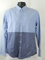 J.Crew Mens Slim Oxford Long Sleeve Button Down Shirt Size M Blue