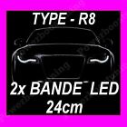 2 BANDE A LED BLANCHE FEUX DE JOUR DIURNE FEU AUDI 80 A2 A3 A4 A5 A5 TT TDI ECT