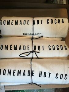 SET 3 Hearth And Hand With Magnolia Flour Sack Homemade Hot Cocoa Kitchen Towels