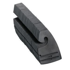 Qty (10-400) Black Plastic Tie Rack NeckTie Hanger Hooks Retail Shopping Supply