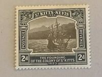 St Kitts-Nevis stamps KGV 2d black & grey 1923 Tercentenary of Colony MH