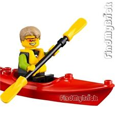 M239 Lego Fun at the Beach Minifigure - Kayaker with Red Kayak Boat 60153 NEW