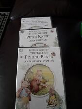 Beatrix Potter.  Tale of Mrs Tiggy Winkle +Pigling bland + peter rabbit 3 dvds
