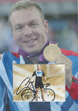 SIR CHRIS HOY Signed 12x8 Photo Display OLYMPIC GOLD MEDAL Cycling Champion COA